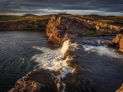 Grimsa River in Borgarfjordur, Iceland--Photographic Print