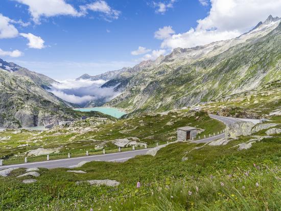 Grimsel mountain pass with reservoir Räterichsboden-enricocacciafotografie-Photographic Print