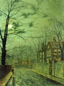 A Moonlit Road by Grimshaw