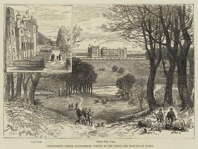 Grimsthorpe Castle, Lincolnshire, Visited by the Prince and Princess of Wales--Giclee Print