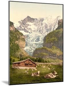 Grindelwald, Chalet and Vischerhorn, Bernese Oberland, Switzerland, C.1890-C.1900