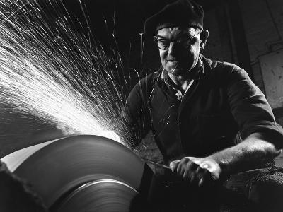 Grinding (Sharpening), Everlast Garden Tools, Sheffield, South Yorkshire, 1965-Michael Walters-Photographic Print