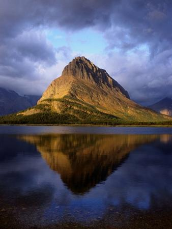 Grinnel Point Reflected in Swiftcurrent Lake