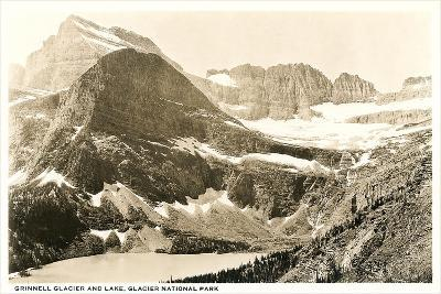 Grinnell Glacier and Lake--Art Print
