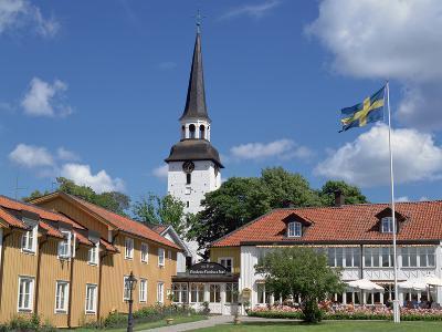 Gripsholm Vardshus and Hotel, Swedens Oldest Inn, Mariefred, Sodermanland, Sweden-Peter Thompson-Photographic Print