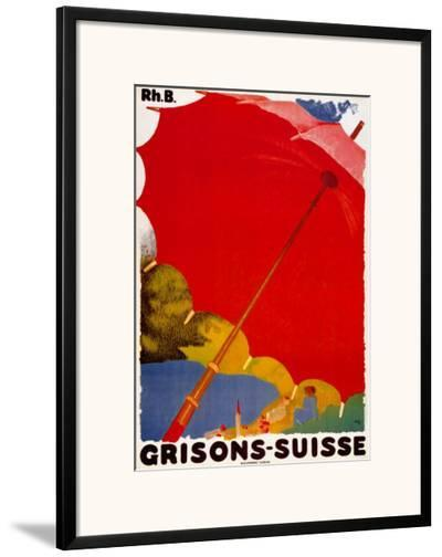 Grisons Suisse-Augusto Giacometti-Framed Art Print