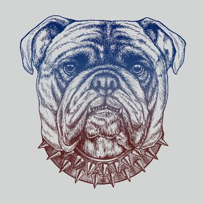 Gritty Bulldog-Rachel Caldwell-Art Print