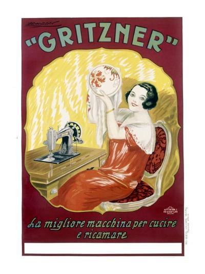 Gritzner Sewing Machine--Giclee Print