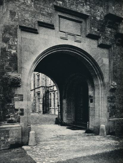 'Grizedale Hall, Lancashire: Archway in Tower to Porte-Cochere', c1911-Unknown-Photographic Print
