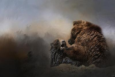 Grizzlies in the Water-Jai Johnson-Giclee Print