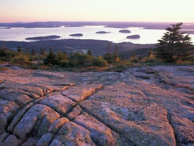 Grooves in the Granite on Summit of Cadillac Mountain, Acadia National Park, Maine, USA-Jerry & Marcy Monkman-Photographic Print