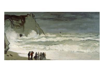 Grosse Mer À Etretat, Heavy Seas at Etretat, France, 1872-Claude Monet-Giclee Print