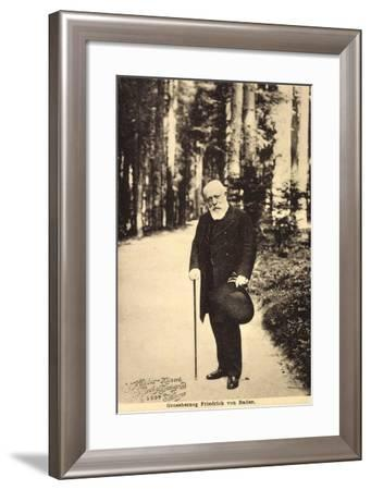 Großherzog Friedrich Von Baden Beim Spaziergang--Framed Giclee Print