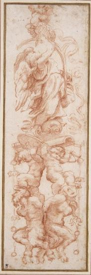Grotesque Decoration for the Rib of a Vault-Correggio-Giclee Print