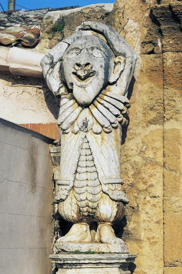 Grotesque Figures at Entrance to Park of Villa Palagonia, Bagheria, Sicily, Italy--Giclee Print