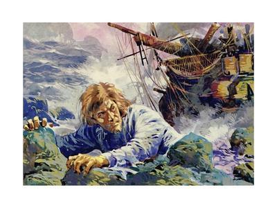 Grotius Died Escaping from a Shipwreck on His Way Back to Holland--Giclee Print