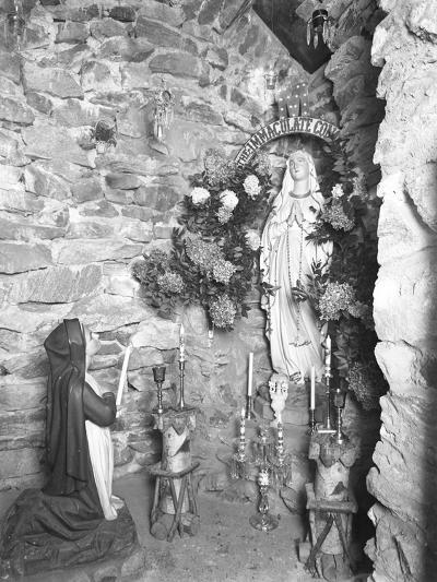 Grotto with Shrine to the Virgin Mary, Seton Hospital, Spuyten Duyvil, Bronx, November 2, 1914-William Davis Hassler-Photographic Print