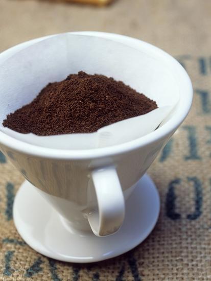 Ground Coffee in Filter-Sara Danielsson-Photographic Print