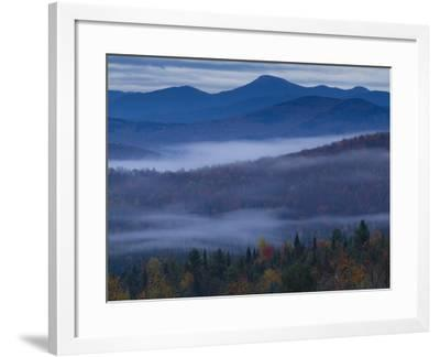 Ground Fog Hangs Above the Valleys in the High Peaks Region-Michael Melford-Framed Photographic Print