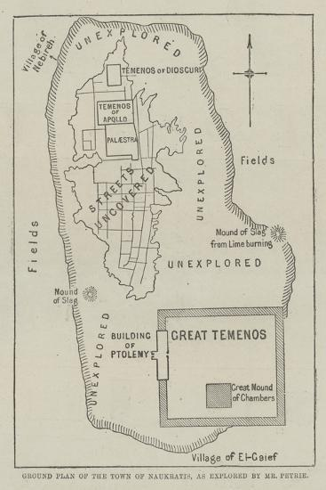 Ground Plan of the Town of Naukratis, as Explored by Mr Petrie--Giclee Print