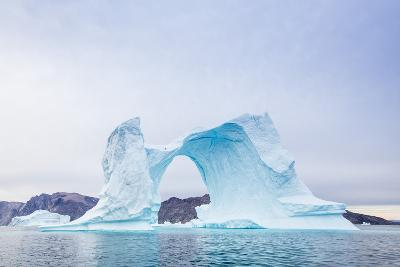 Grounded Icebergs, Sydkap, Scoresbysund, Northeast Greenland, Polar Regions-Michael Nolan-Photographic Print