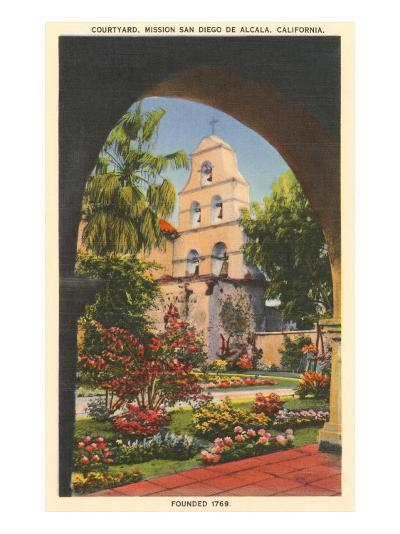 Grounds, Old Mission de Alcala, San Diego, California--Art Print