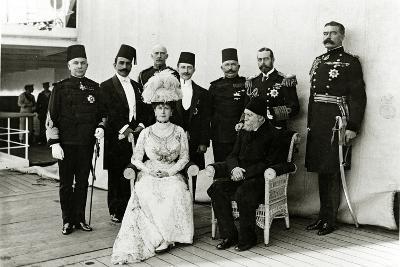 Group at Port Said, 1911--Photographic Print