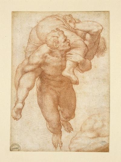 Group from the Last Judgement-Michelangelo Buonarroti-Giclee Print
