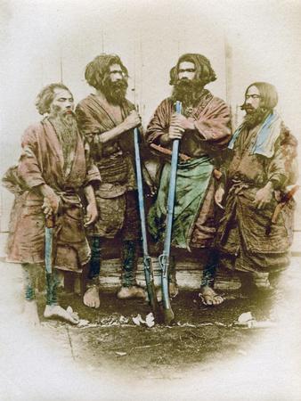 Group of Ainu People, Japan, 1882-Felice Beato-Giclee Print