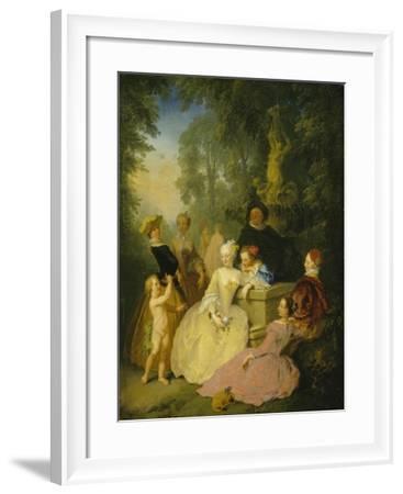 Group of Elegant Poeple in a Park, 1746-Christian Wilhelm Dietrich-Framed Giclee Print