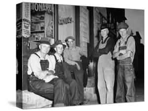 Group of Farmers Standing Outside Store
