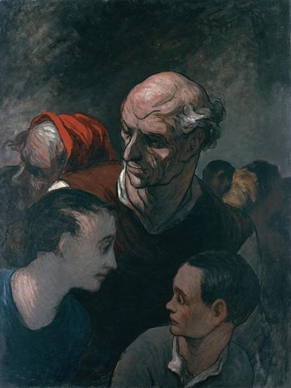 Group of Figures, 1854-Honore Daumier-Giclee Print
