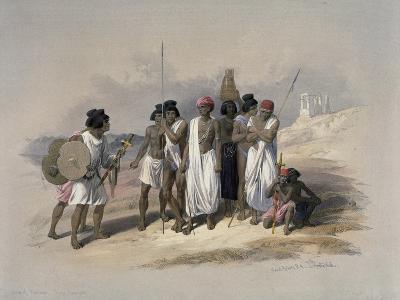 Group of Nubians at Wady Kardassy-David Roberts-Giclee Print