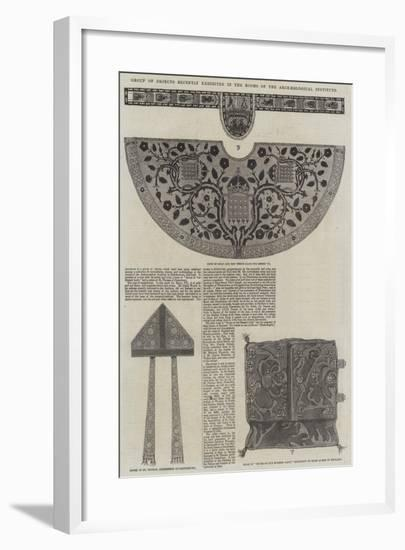 Group of Objects Recently Exhibited in the Rooms of the Archaeological Institute--Framed Giclee Print