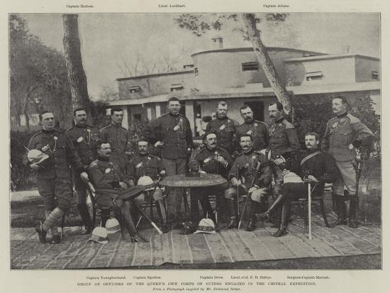 Group of Officers of the Queen's Own Corps of Guides Engaged in the Chitral Expedition--Giclee Print