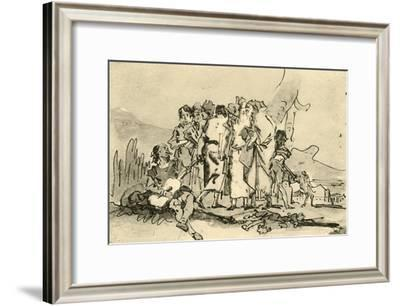 'Group of Old and Young Men', mid-late 18th century, (1928)-Giovanni Domenico Tiepolo-Framed Giclee Print