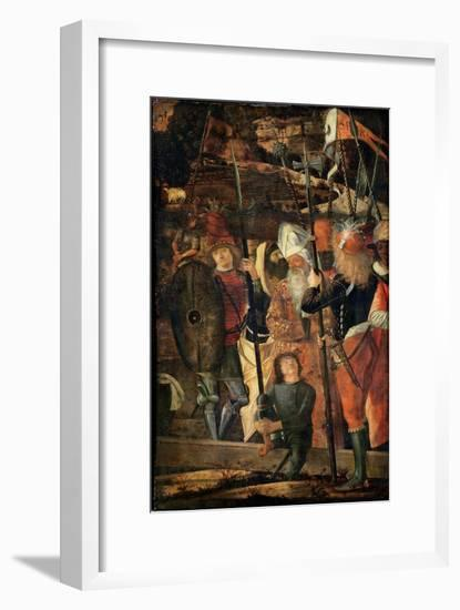Group of Orientals, Jews and Soldiers, 1493-95-Vittore Carpaccio-Framed Giclee Print