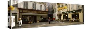 Group of People at a Town Square, Rue De La Republique, Avignon, Provence-Alpes-Cote D'Azur, France