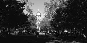 Group of people at a university campus, University of Notre Dame, South Bend, Indiana, USA