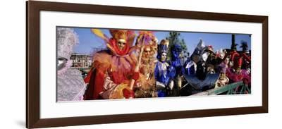 Group of People in Masks and Costume, Carnival, Venice, Veneto, Italy, Europe-Bruno Morandi-Framed Photographic Print