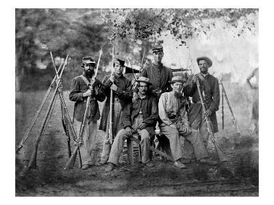 Group of Soldiers, Civil War-Lantern Press-Art Print