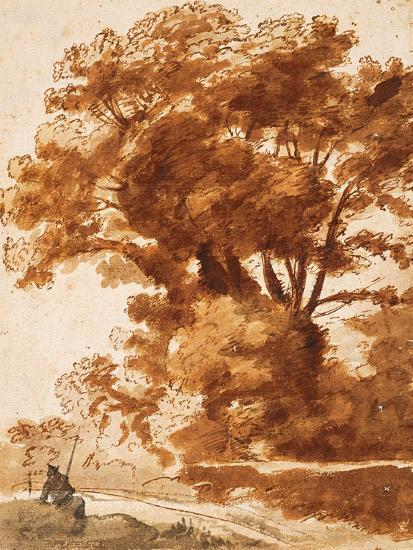 Group of Trees and Resting Sheperd, 1630S-Claude Lorraine-Giclee Print