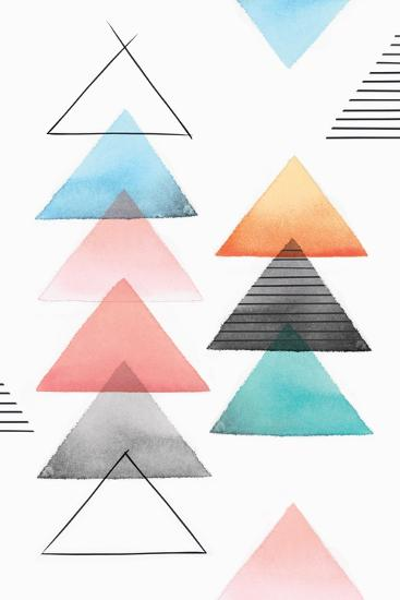 Group of Triangles II-Isabelle Z-Art Print