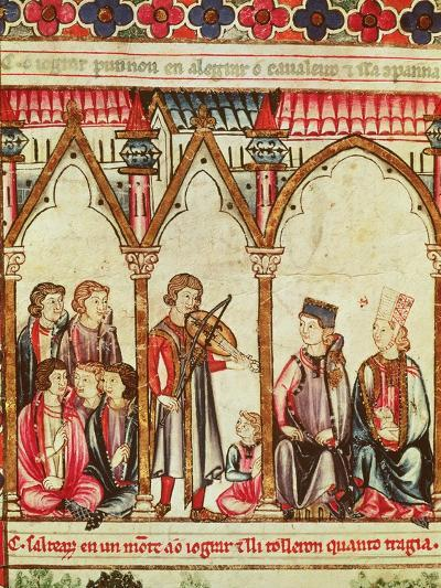 """Group of Troubadours, Illustration from """"Cantigas De Santa Maria""""--Giclee Print"""
