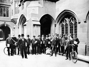 Group of Vote Office Messengers, Houses of Parliament, Westminster, London, C1905