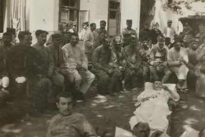 Group of Wounded Soldiers in a Military Hospital During the First World War--Photographic Print