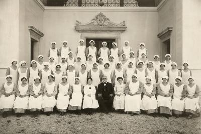Group Photo of a Psychiatric Nurse During the First World War-Carlo Wulz-Photographic Print