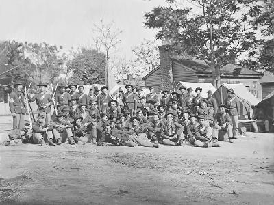 Group Photo of the 44th Indiana Infantry During the American Civil War-Stocktrek Images-Photographic Print