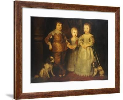 Group Portrait of the Children of King Charles I, Full Length-Sir Anthony Van Dyck-Framed Giclee Print