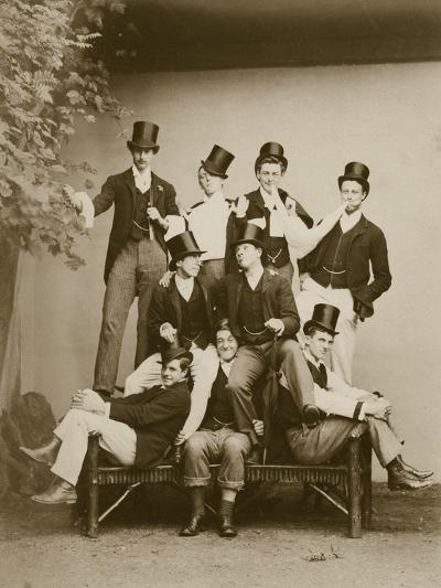 Group Portrait of Young Men--Photographic Print